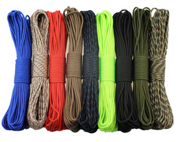 Conjunto de Rainbow Color 550 Popular Tipo III 7 Strand Paracaídas Paracord Cord Lanyard Mil Spec Core 100FT