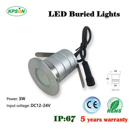 Discount small recessed lights Factory sale recessed waterproof IP67 mini  small LED dmx DC12 1w lamps