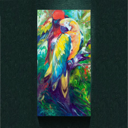 2017 Parrot Home Decor Modern Colorful Parrot Painting Picture Abstract Art Print On The Canvas