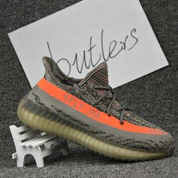 Wholesale 2017 New Adidas Originals Yeezy Boost V2 Running Shoes For Sale Men Women Original SPLY Yeezys Sports Shoes Free Drop Shipping