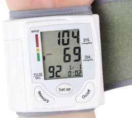 Во всем мире Arm Meter Pulse запястье Монитор артериального давления Сфигмоманометр предотвратить гипертонию Homeuse Портативный крови давлен LLFA