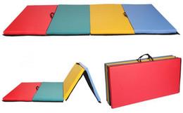 online shopping PRO x8 x2 quot PU Gymnastics Mat Gym Folding Panel Yoga training Fitness Exercise Tumbling Pad Mix Color