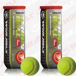 3 PCS / tube Fédération Internationale Approuvé Maître Une Balle De Tennis De Niveau Compétition De Fibres Chimiques Ballon De Tennis
