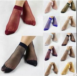women socks candy color socks female ankle silk short sock sexy hosiery elastic stockings summer ultra thin socks invisible free shipping g7 - Buy Candy By Color