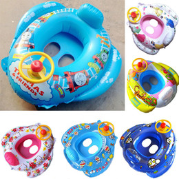 inflatable float swim ring kids summer cartoon car with steering wheel swimming seat toddler water beach bath toys fashion