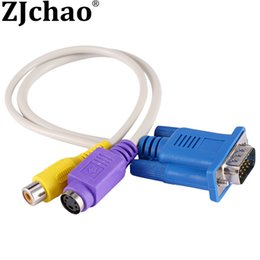 online shopping PC LAPTOP VGA SVGA TO S Video RCA Composite AV TV Out Converter Adapter Cable Please Read the Description