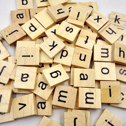 discount wood craft letters wholesale wholesale 100 pcs wooden alphabet scrabble tiles black letters crafts