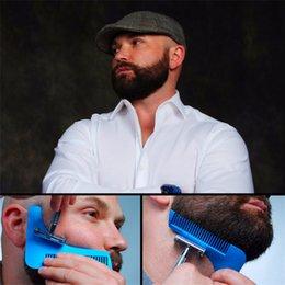 Bro-barba A Barba Bro Beard Shaping Tool para Homens Gentleman Trim molde Hair Cutter moldagem com embalagem saco OPP frete grátis