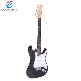 online shopping Hot Sale ammoon Full Size Electric Guitar Poplar Wood Body Rosewood Fingerboard with Gig Bag Strap Strings for Beginner