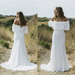 bohemian wedding dresses designer 2017 off the shoulder lace bridal gowns mermaid style custom made vestidos de novia