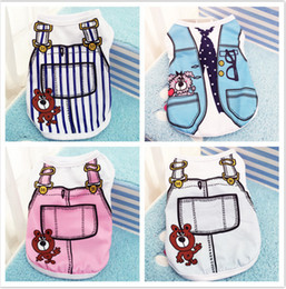 Discount pet clothing wholesale Pet dog apparel T Shirt shirts Dress Vest Summer Spring large dog clothes Pet Dogs Outfits Vest Rompers Teddy Clothes