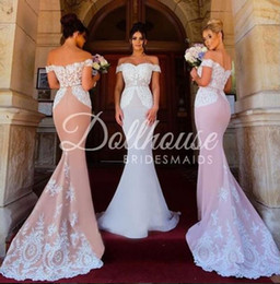 online shopping Sexy Lace Bridesmaid Dresses Sweetheart Mermaid Satin Maid Of Honor Dresses Vintage Cheap Formal Party Evening Gowns