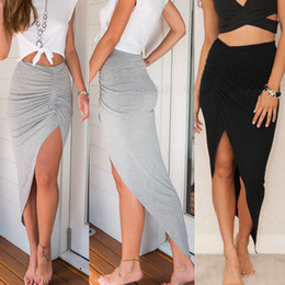 Long Black Pencil Skirt Split Online | Long Black Pencil Skirt ...