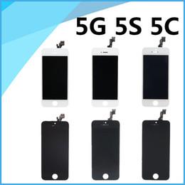 Promotion-Vente en gros pour iPhone 5G 5S 5C Lcd écran tactile numériseur Full Assembly avec pièces de remplacement de cadre