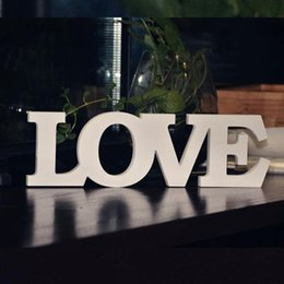 White Color Love Wooden Letters Wedding Decoration Home Garden Table Sign Wedding Wooden Decor Standing Letters Love Sign Za2733