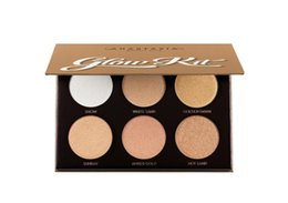 New Arrive 6 cores GLOW KIT ULTIMATE GLOW 100% NOVO Marca IN BOX Highlighting Powder Makeup Kit grátis Envio