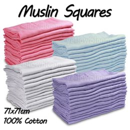 Baby Muslin Squares Ткань 100% хлопок Многоразовые подгузники с подгузниками Салфетки для вытирания подгузников Подгузники для новорожденных Детское питание