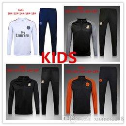 Haut THAI QUALITY 2016-17 Real Madrid KIDS BOYS Paris football chandal football survêtement de formation pantalon skinny Vêtements de sport