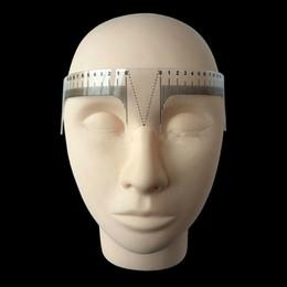Nova forma 1piece Sobrancelha régua ferramenta mede microblading permanente compõem ferramenta para medir sobrancelha perfeita