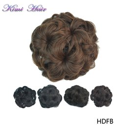 Discount Curly Chignon | 2017 Chignon Curly Hair on Sale at DHgate.com