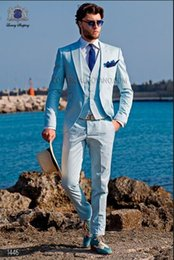 Discount Light Blue Skinny Suit | 2017 Light Blue Skinny Suit on ...