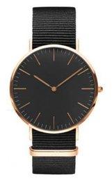 2017 Марка 11 цветов Классический черный смотреть роскошные часы для мужчин женщин нейлоновый ремешок военного кварцевые наручные часы (реплики DW часы) DHL бесплатно