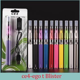 Ego kit de démarrage CE4 atomiseur cigarette électronique e cig kit 650mah 900mah 1100mah EGO-T batterie blister Case Clearomizer E-cigarette Dhl