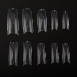 MAKARTT!500pcs Clear/White/Natural Color French Acrylic Europe Style False Nails Designs 10 Sizes for Nail Salons and DIY Nail Art at home