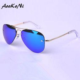ladies sunglasses brands xudg  AOOKONI Brand Design Grade AK3449 Sunglasses Women Men Mirror Sunglasses  Vintage Sun Glasses No Frame For Women Female Male Ladies Sunglass