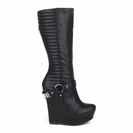 Thigh High Wedge Heel Boots Online | Thigh High Wedge Heel Boots ...