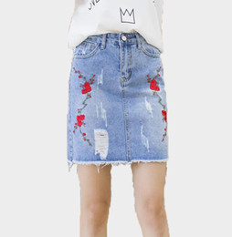 Ripped Denim Skirt Online | Ripped Denim Jeans Skirt for Sale