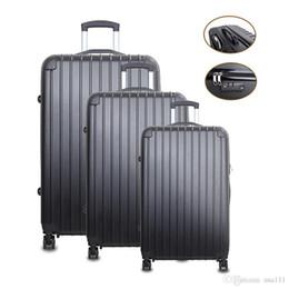 Акция в США! Set 3 шт. Тележка для перевозки багажа тележки Spinner Сумка для сумок ABS ABS переносит 20