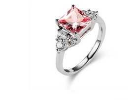 2016 cheap hot wedding ring women new luxury large vintage us size 6 7 8 stock shipping pink silver plated rings jewelry cheap celtic wedding rings sets on - Cheap Wedding Ring Sets