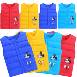 Wholesale Baby Kids Clothing Outwear Coat hiver Fashion boys Hommes décontractés Mickey Mouse manteaux rembourrés en coton Vestes Tops Enfants Gilet Gilet