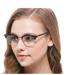 brand designer eyeglass frames classic vintage plank optical glasses frames clear lens myopia eyeglasses for women men with original case inexpensive solid