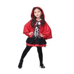Новый год День защиты детей Костюмы для девочек Костюмы девочек Прекрасный маленький Red Devil Косплей Performance одежда оптом