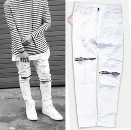 White Skinny Jeans For Men Online | White Ripped Skinny Jeans For ...