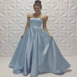 Strapless Baby Blue Prom Dresses Online | Strapless Baby Blue Prom ...
