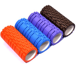 Discount home gym exercises Wholesale-33x14cm EVA Yoga Gym Pilates Exercise Foam Roller Massage Training home fitness workout muscle relaxation equipment free ship