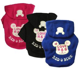2017 pet clothing wholesale Dog Clothes Cute Cartoon Sweaters with Hat Pet Coat Winter Funny Clothing Dogs Cloth Warm Dog Coats Apparel Supplies #LOVERB17 cheap pet clothing wholesale