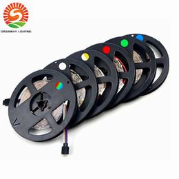 2017 flat 3528 tape light SMD 2835 RGB LED Strip light 300LEDs  5M New Year String Ribbon lamp More Brighter than 3528 3014 Lower Price 5050 5630 Tape cheap flat 3528 tape light