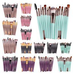 15 шт / комплект макияж кисти Kit Eye Shadow Фонд Брови губ пользоваться косметикой кисти Мультифункциональный Кисти для макияжа Инструмент Kis 15 цветов DHL