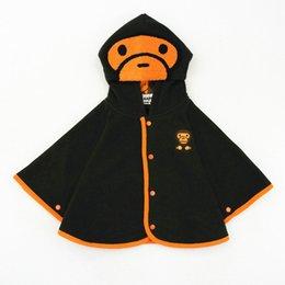 Oro Manos Niños / Niñas / Niños Primavera / Invierno Baby Cartoon Hooded Chaquetas Coat Fleece Cloak / Cape Niño / Recién nacido Cute Cotton Outwear Chaqueta