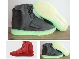 2017 point west Hot Originals Red October Boost 750 Kanye West Shoes Light Grey Glow in the dark 750 Boosts Men Women Basketball Shoes Sports Casual Boosts cheap point west