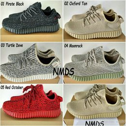 Wholesale 2017 Original Adidas Yeezy Boost Shoes Pirate Black Turtle Dove Moonrock Oxford Tan Womens Mens Running Shoes Kanye West Yzy Yeezys