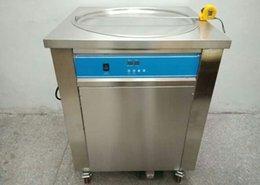 Inteligente tailandês frito sorvete rolo máquina única 50 cm pan fry pan gelado enrolado suco iogurte fabricante 110v / 220v
