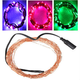 Elegant 12 Volt Waterproof Copper Wire String Lights 10M 100 LEDs Outdoor Cristmas  Fairy Lights Pink Purple White Freeshipping 3 Set Lot