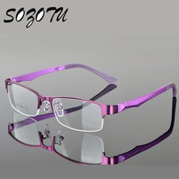 wholesale sozotu optical eyeglasses frame women men computer glasses spectacle half frame for womens transparent female male oculos yq108 inexpensive