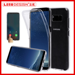 For Samsung S8 PLUS S7edge 360 Full Body Soft TPU Case Ultra-Thin Clear Gel Silicon Front Back Cover for iphone 7 plus A3 A7 A5 2017 S6 edge from iphone plus silicon manufacturers