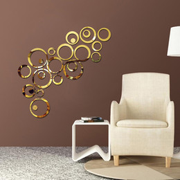 Circles Wall Stickers Acrylic Diy Wall Stickers Removable Decal Vinyl Art Wall Sticker Home Decor Mirror Style Decal